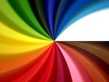 色的漩涡 库存例证