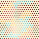 色的点无缝的样式 库存图片