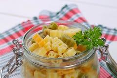色的煮熟的意大利面食 图库摄影