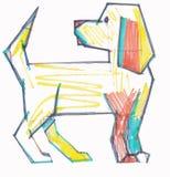 色的狗 免版税库存照片