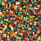 色的玩具砖背景 向量例证