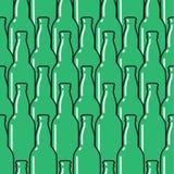 色的玻璃瓶无缝的样式 免版税库存图片