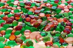 色的玻璃范围 免版税库存照片