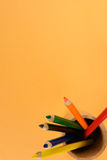 色的玻璃铅笔 库存照片