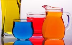 色的玻璃 图库摄影