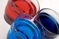 色的玻璃 库存图片