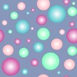 色的球形,无缝 库存图片