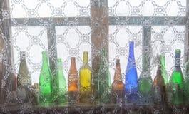 色的瓶 免版税库存图片