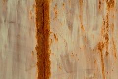 色的生锈的被弄脏的金属墙壁纹理样式 免版税图库摄影