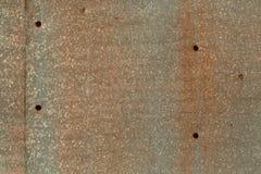 色的生锈的被弄脏的金属墙壁纹理样式 免版税库存图片