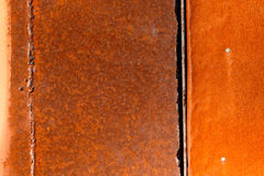 色的生锈的被弄脏的金属墙壁纹理样式 图库摄影
