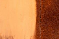色的生锈的被弄脏的金属墙壁纹理样式 免版税库存照片