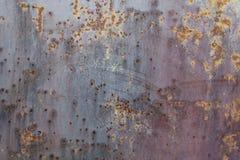 色的生锈的铁墙壁 库存照片