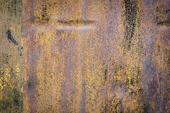 色的生锈的铁墙壁 库存图片