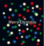 色的电灯泡和圣诞节 库存照片