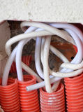 色的电电汇 库存照片