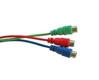 色的电缆 免版税库存图片