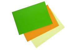 色的皱纸板 免版税库存图片