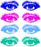 色的眼睛设置了 免版税库存图片
