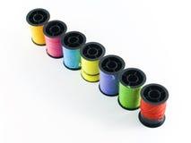 色的短管轴线程数 免版税图库摄影