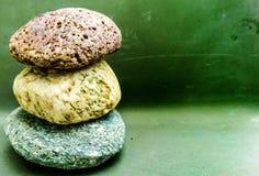 色的石头 免版税库存照片