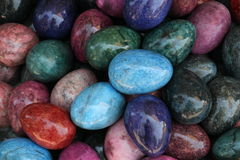 色的石头 库存照片