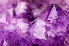 紫色的石头 免版税库存照片