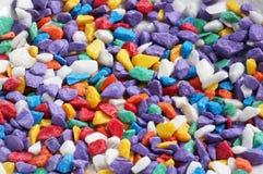 色的石头 免版税库存图片