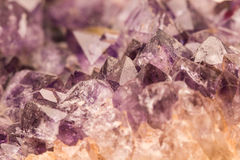 紫色的矿物 库存图片