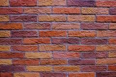 色的砖墙壁  库存照片