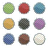 色的空白按钮 免版税库存照片