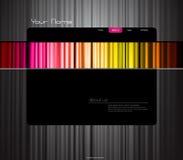 色的窗帘模板网站 免版税库存图片