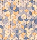 色的立方体的无缝的样式 不尽的多彩多姿的立方体背景 立方体样式 立方体传染媒介 求背景的立方 抽象海运 免版税库存图片