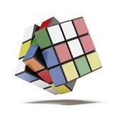 色的立方体 免版税图库摄影