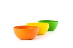 色的竹碗 库存照片
