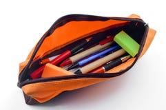 色的笔匣 免版税图库摄影