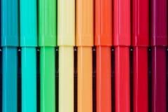 色的笔,关闭,教育,笔 图画 图库摄影