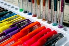 色的笔17 库存照片