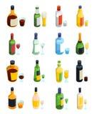 色的等量酒精象集合 向量例证
