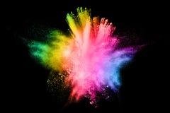 色的粉末爆炸 免版税库存图片