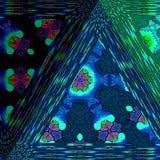 色的精采三角的金刚石样式 向量例证