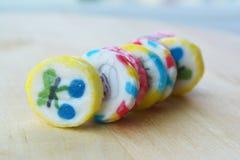色的糖果 库存图片