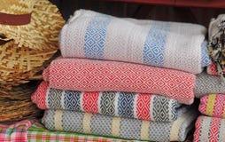 色的纺织品 免版税库存照片