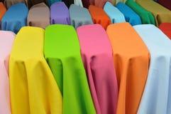 色的纺织品 库存图片