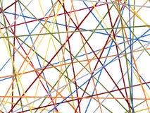 色的线程数 库存照片
