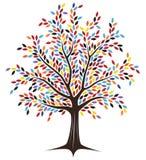 色的结构树 免版税库存图片