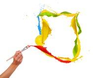 色的绘画 库存照片