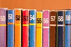 色的编号 免版税库存图片