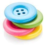 色的缝合的按钮 库存图片