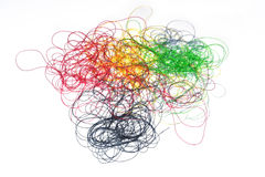 色的缝合针线 库存图片